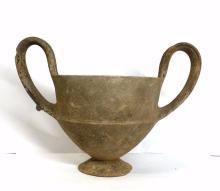 Large Ancient Greek Pottery Kantharos