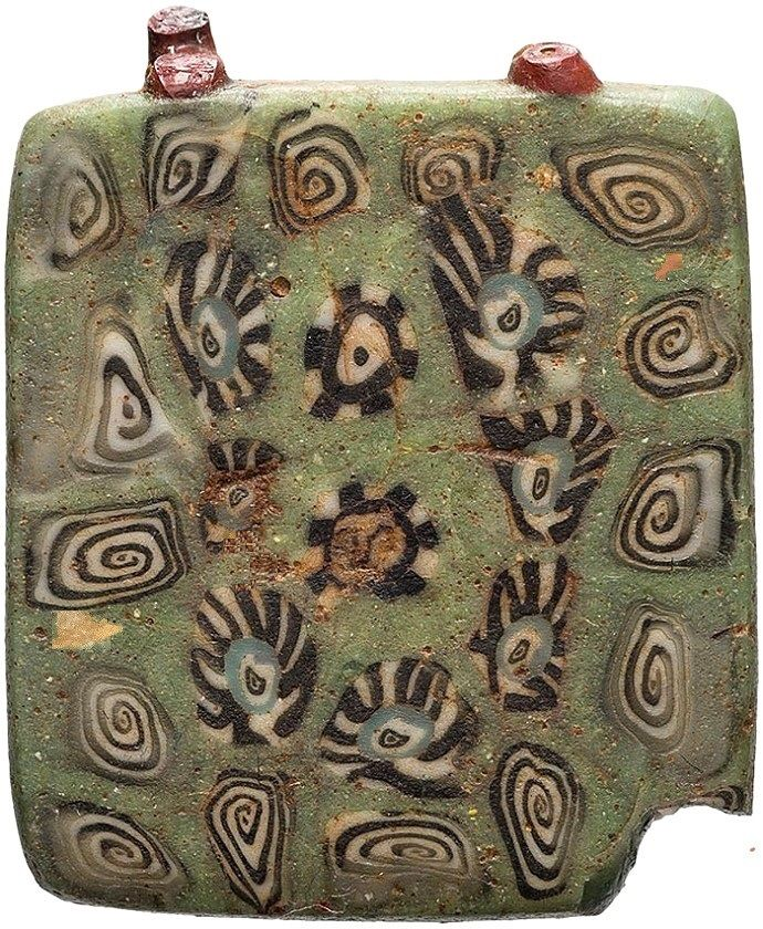 Ancient Phoenician Mosaic Glass Pendant ca. 800 BC