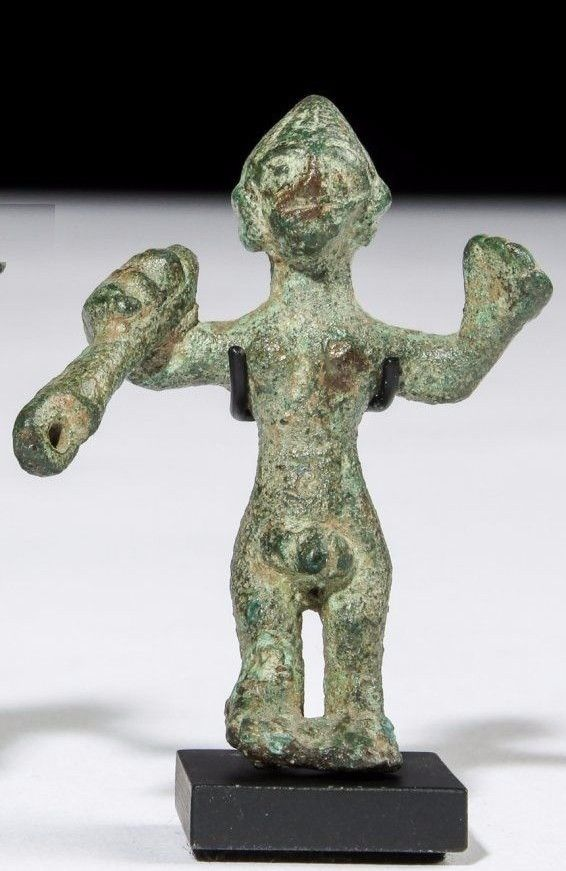 Ancient Middle Bronze Age Bronze Figure .