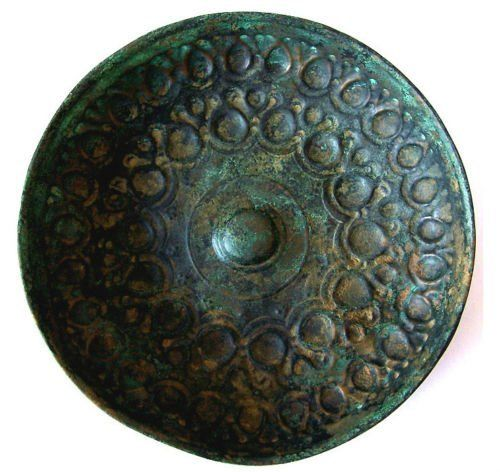 Ancient Achaemenid Bronze Mesomphalos Bowl