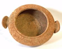 Ancient Assyrian Bowl with rams head handles