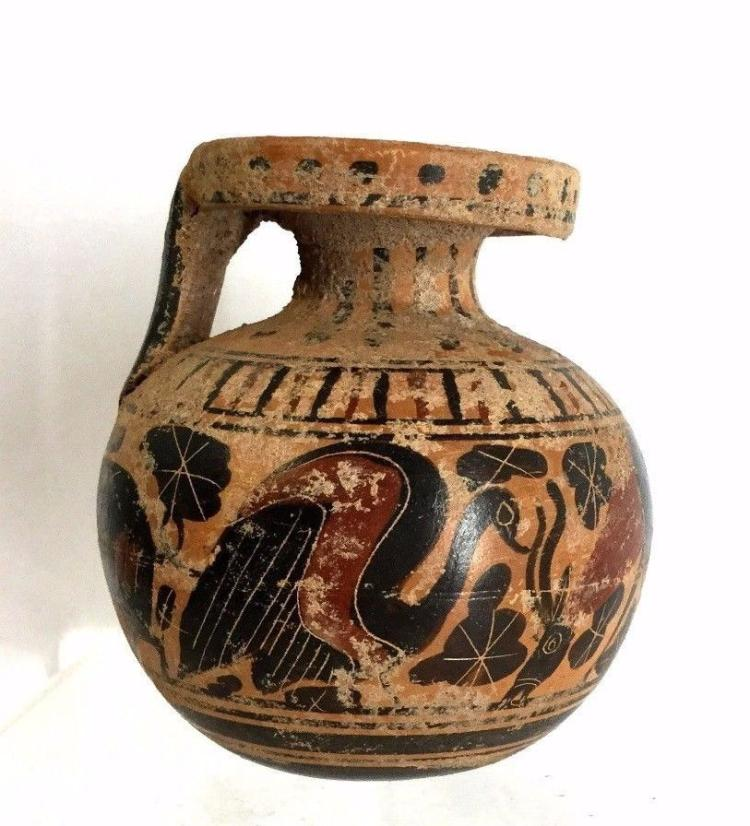 Ancient Corinthian Aryballos Archaic Greek .