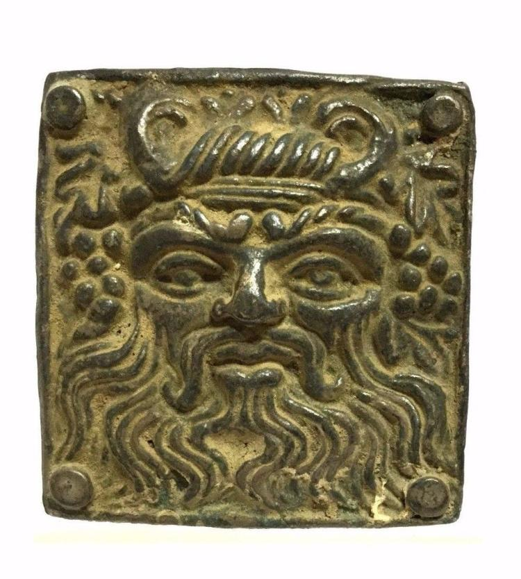 Ancient Greek Silver Buckle .