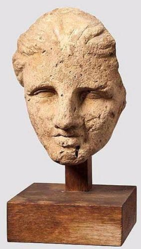 Ancient Hellenistic terracotta Head of a Young Woman