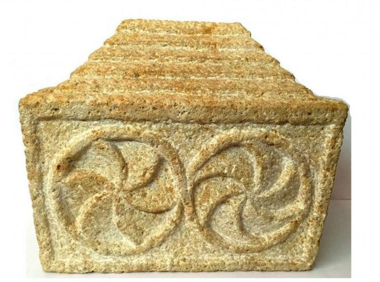 ANCIENT ROMAN/BYZANTINE STONE RELIQUARY.
