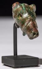 Ancient Roman Bronze Bridled Horse Head.