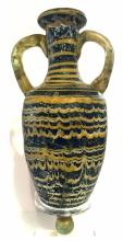 Ancient A Greek Core -Formed Glass Amphora .