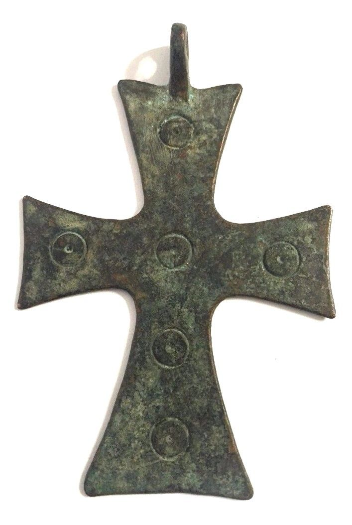 Large Ancient Byzantine Bronze Cross .