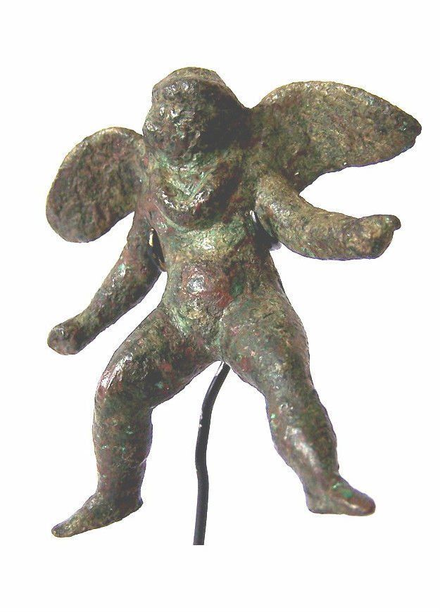 Ancient Roman Bronze of Cupid or Eros.