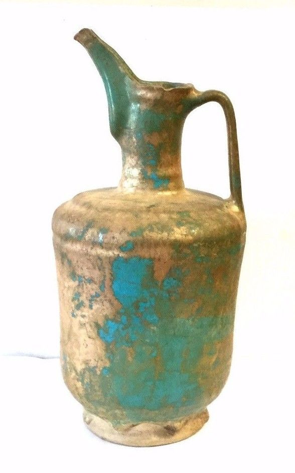 Rare antique Islamic Glazed jug.