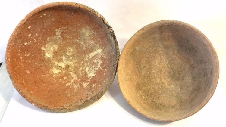 Lot of 2 Ancient Iron clay Bowl .