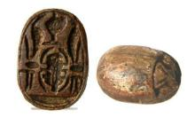 Ancient Egyptian stone Scarab.