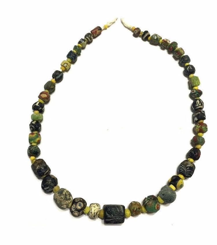 Roman /Islamic strand of mosaic glass beads Necklace.