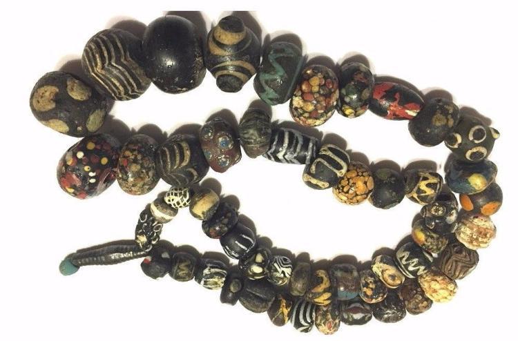 Roman /Islamic strand of mosaic glass beads Necklace.