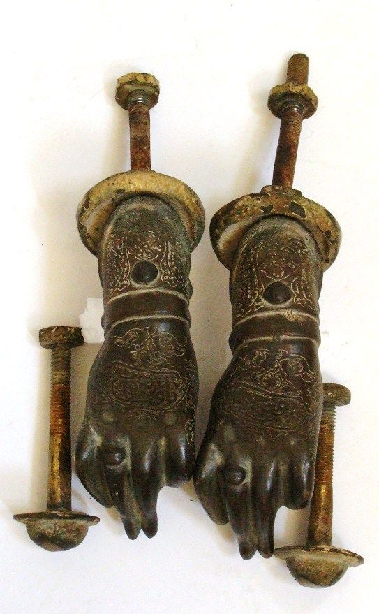 Pair Of antique Islamic Bronze Knocker Door.