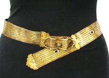 Islamic ottoman silver Belt Gold plated.