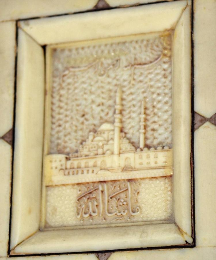 Islamic Ottoman Ivory framed Mosque Relief.