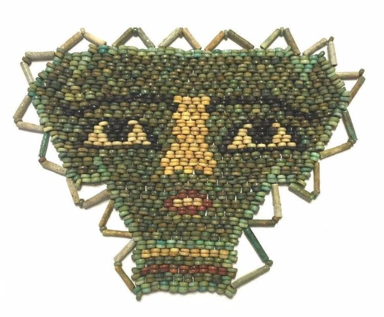 Egyptian Mummy Bead Funerary Face Mask