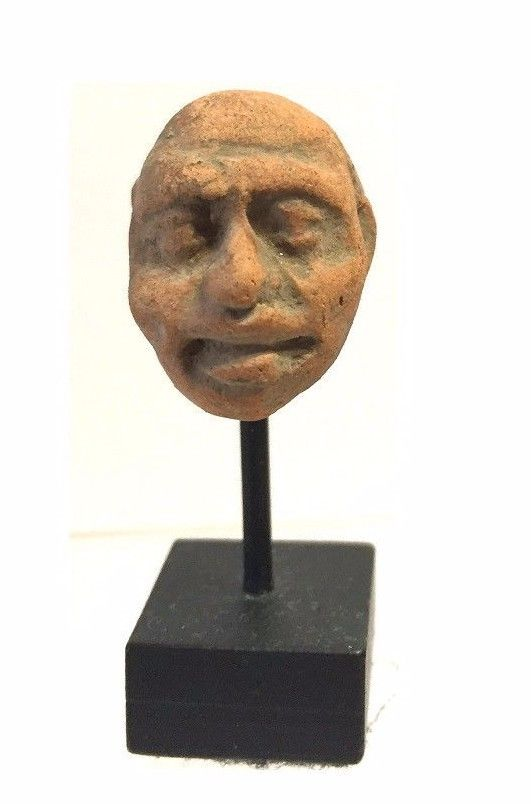 Ancient Assyrian -Hittite clay Head.