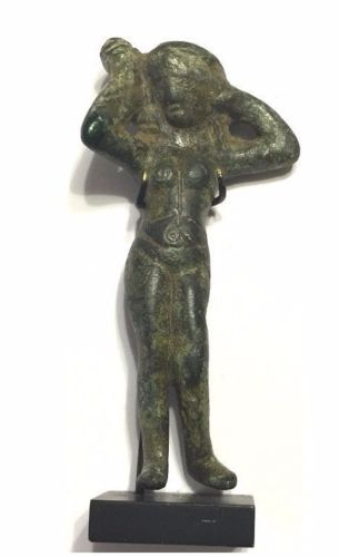 Ancient Roman Bronze female statue.