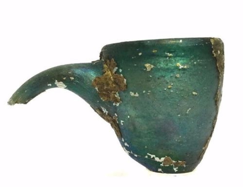 Ancient Roman Medical Glass Vessel.