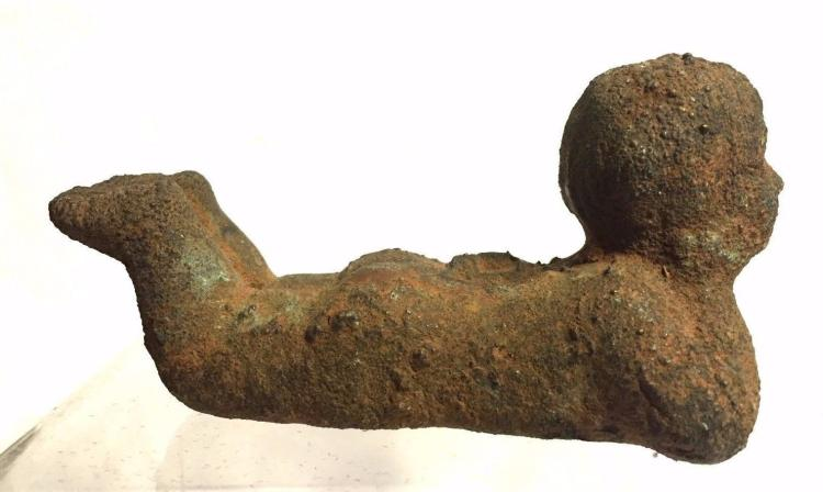 Ancient Roman Hollow Bronze Figure statue.