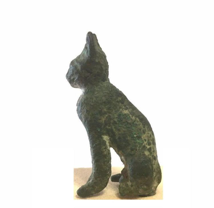 Ancient Egyptian bronze Cat.