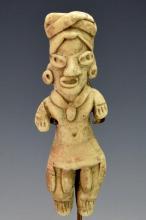 Pre-Columbian, Mexico Clay Figurine .
