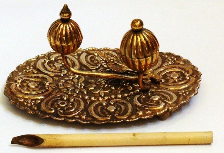 Antique Islamic Ottoman Inkwell .