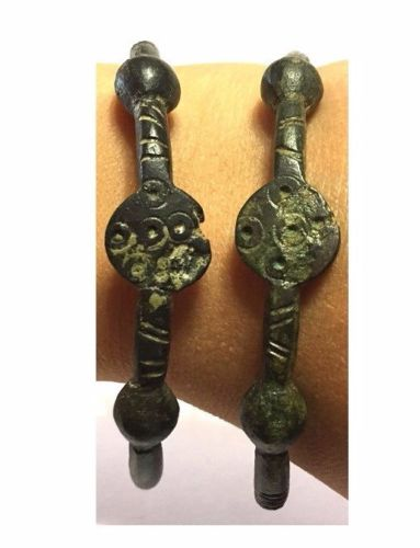 Pair of Ancient Roman Bronze Bracelet .