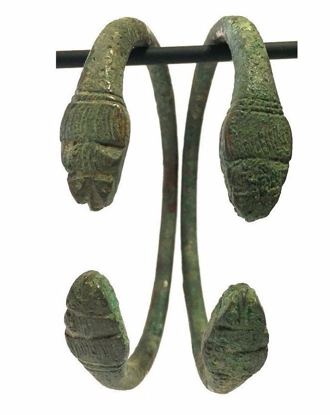 Pair of Ancient Luristan Bronze Bracelet