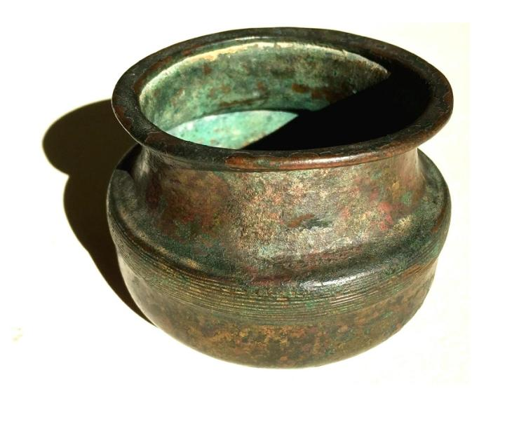 Ancient Persian Achaemenid Bronze Vessel .