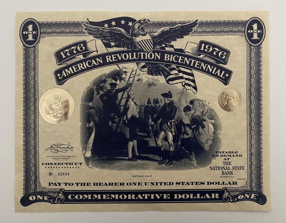 American Revolution Bicentennial Commemorative Dollar. Connecticut