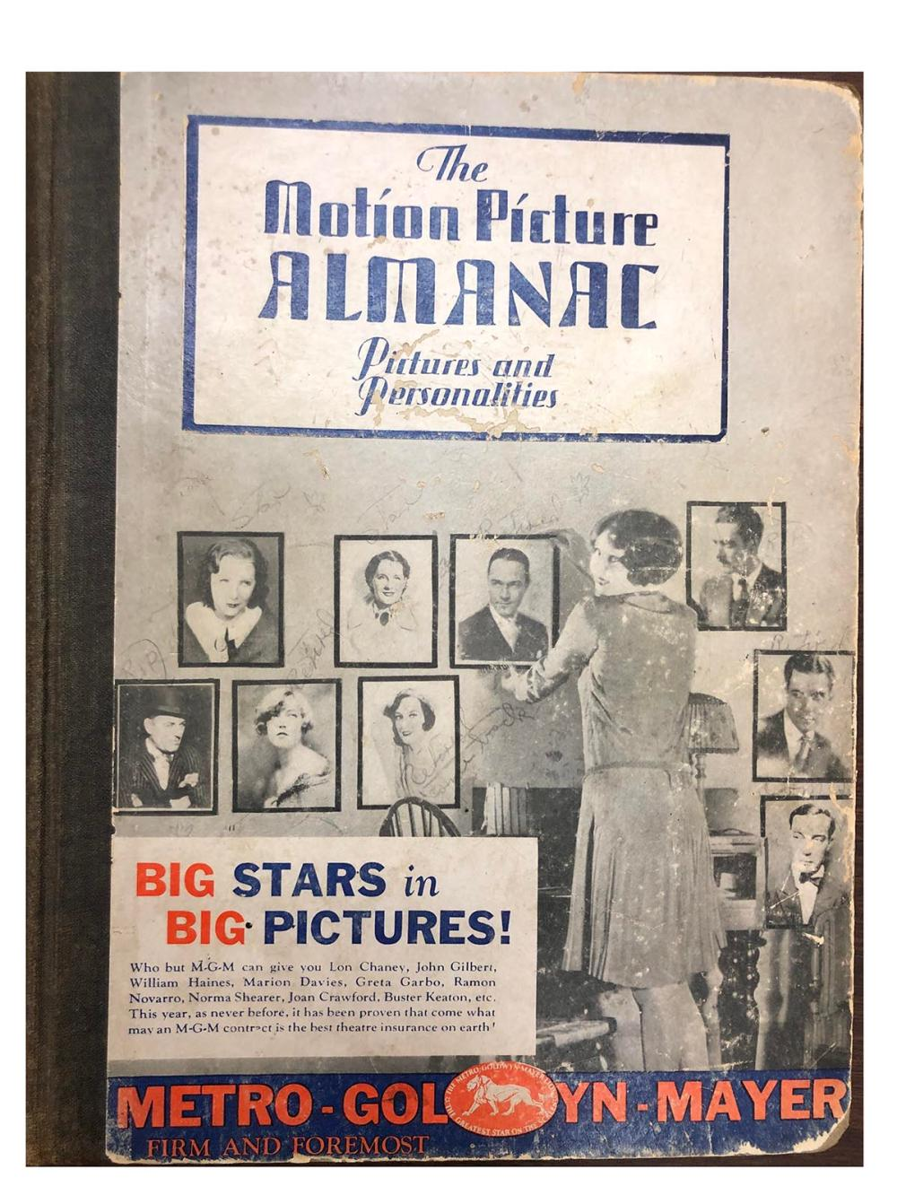 The Motion Picture Almanac vintage hardcover book