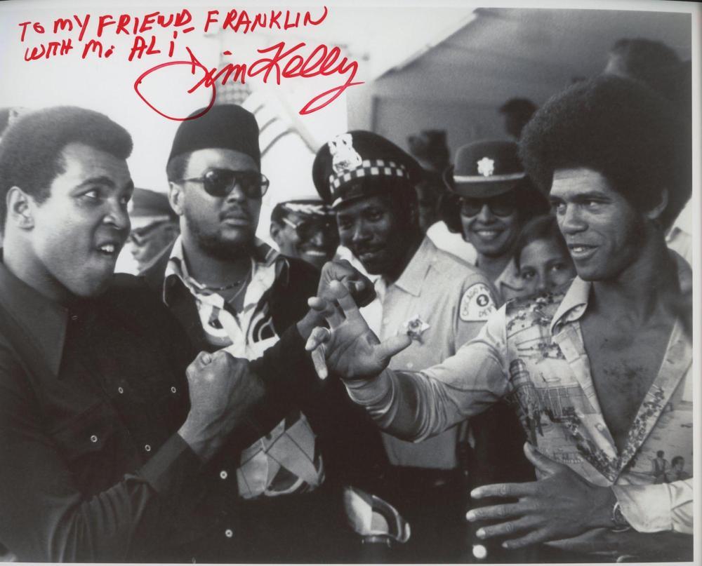 Jim Kelly signed photo