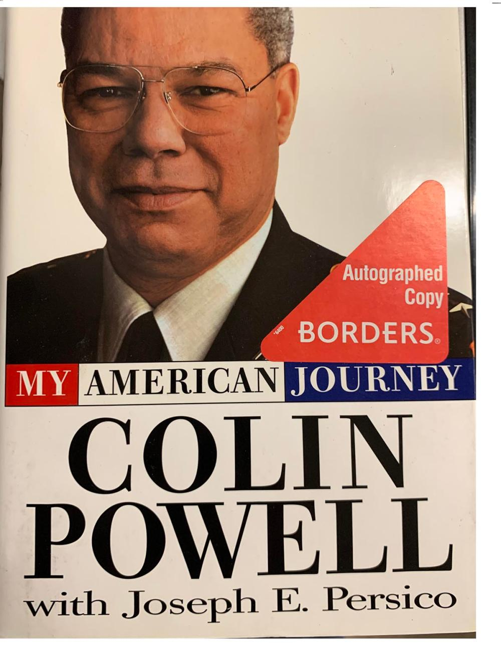 Colin Powell signed book