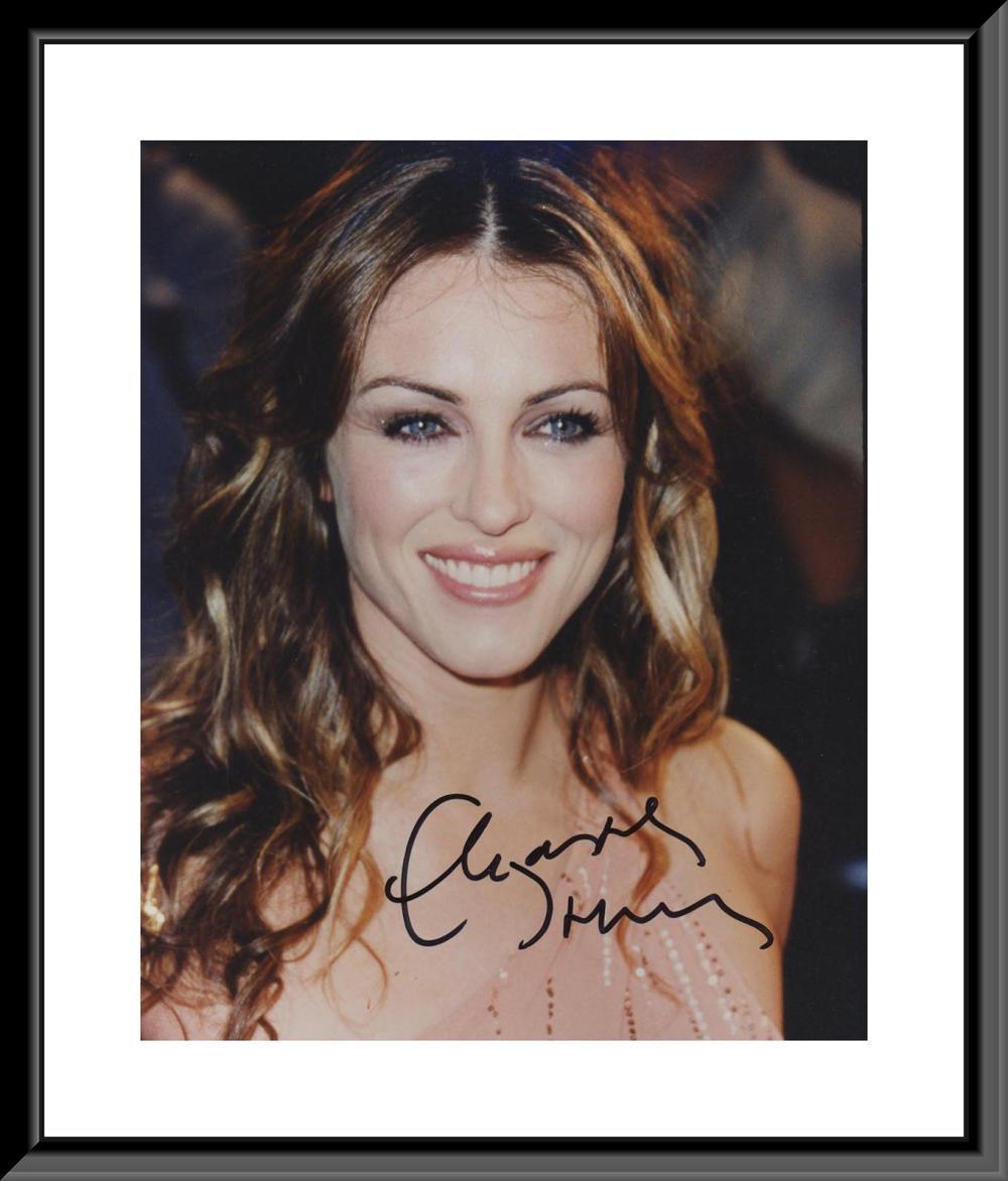 Elizabeth Hurley signed photo
