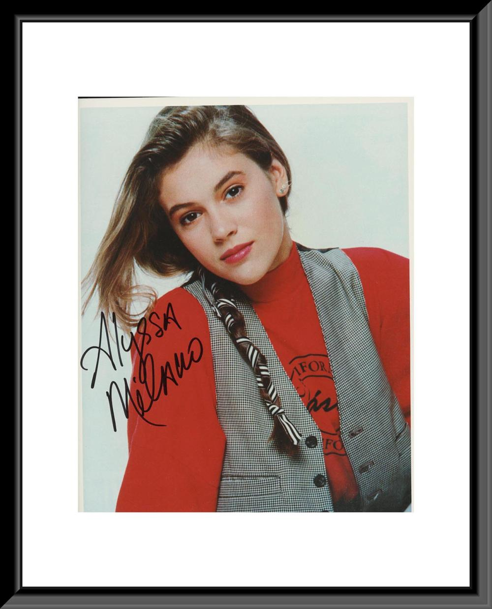 Alyssa Milano signed photo