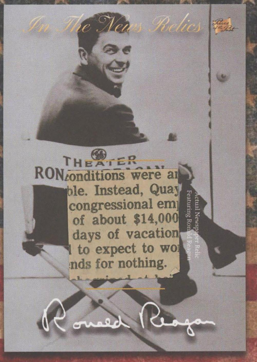 Ronald Reagan newspaper relic
