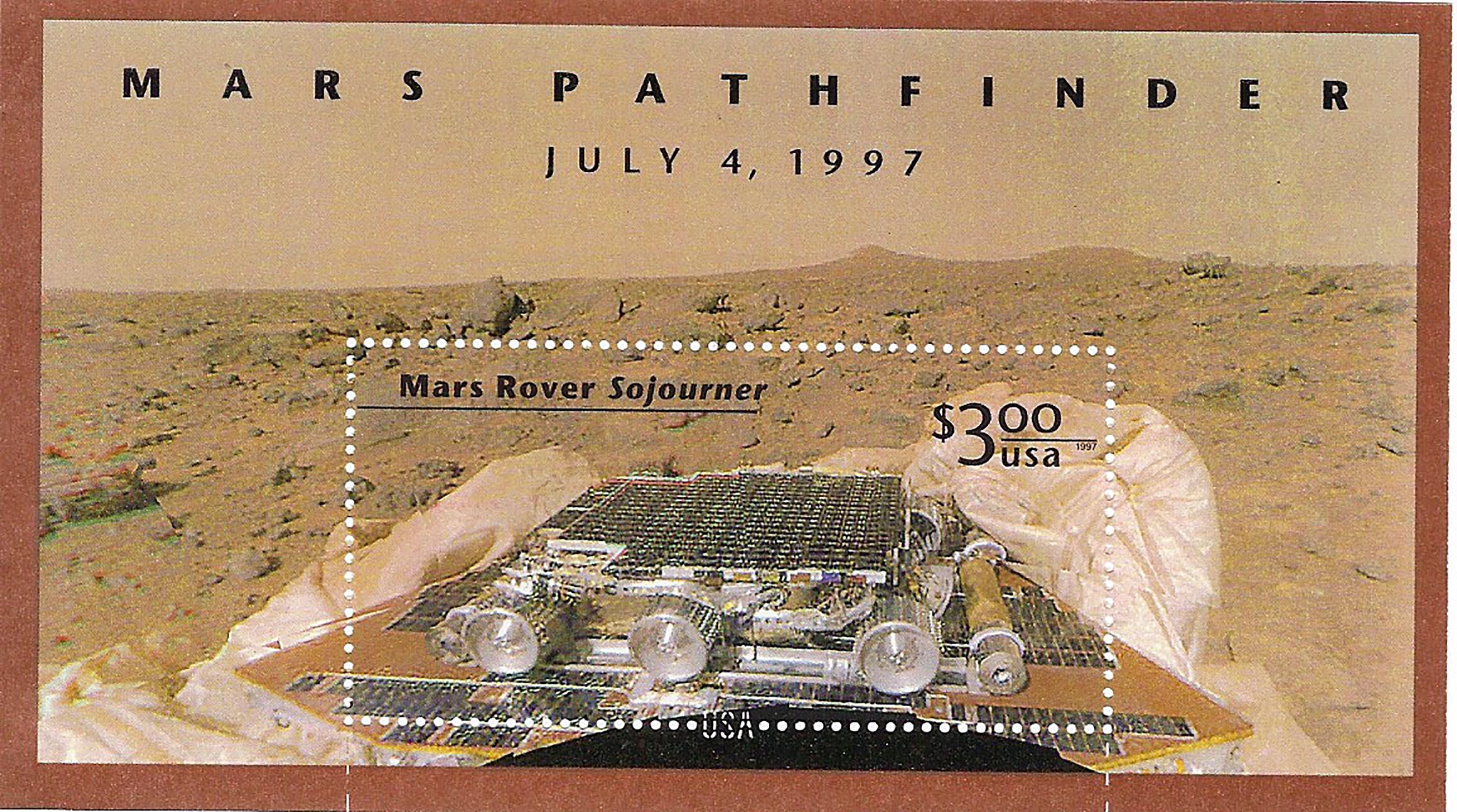 Mars Rover Stamp Sheet