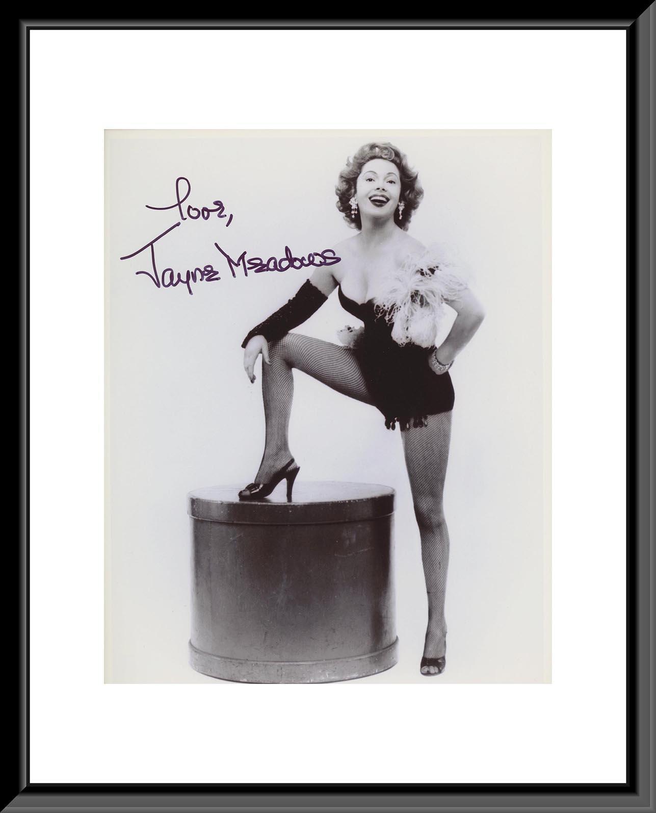 Jayne Meadows signed photo