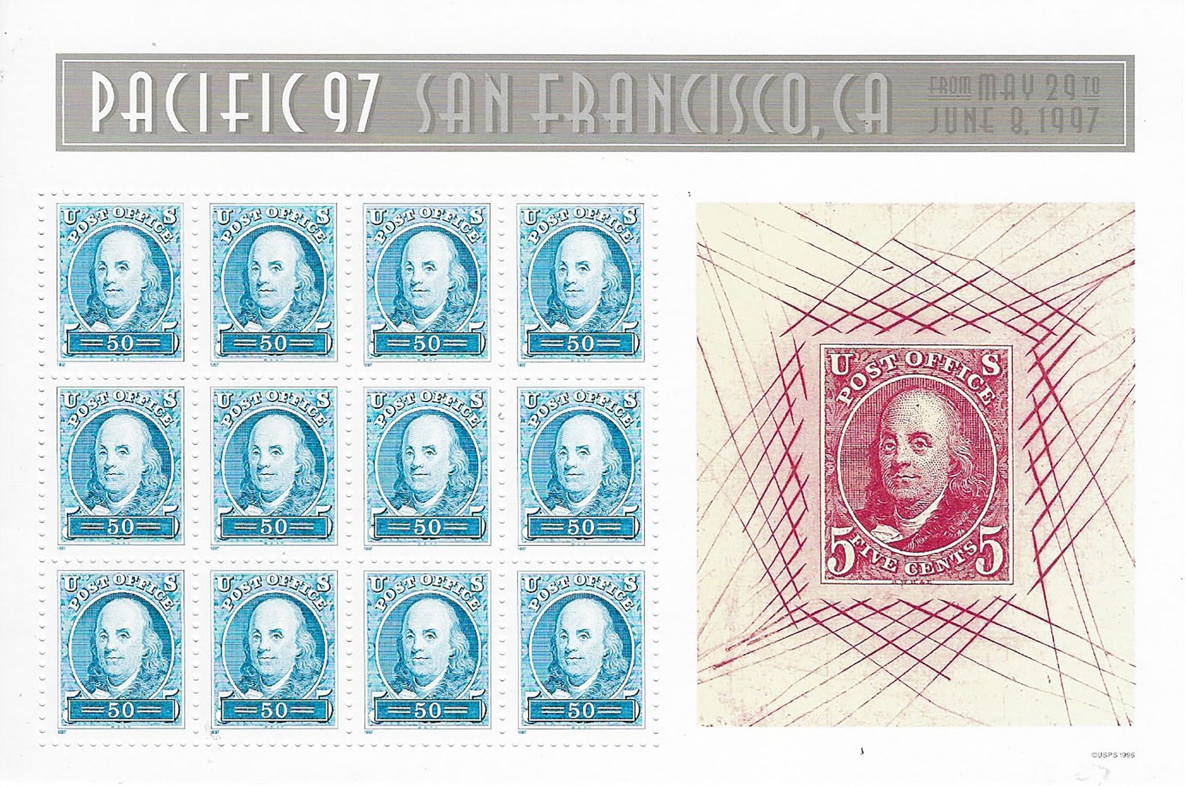 Pacific '97 San Francisco Stamp Set. May 29-June 8, 1997