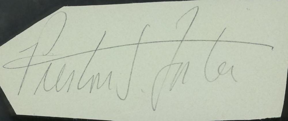 Preston Foster signature cut
