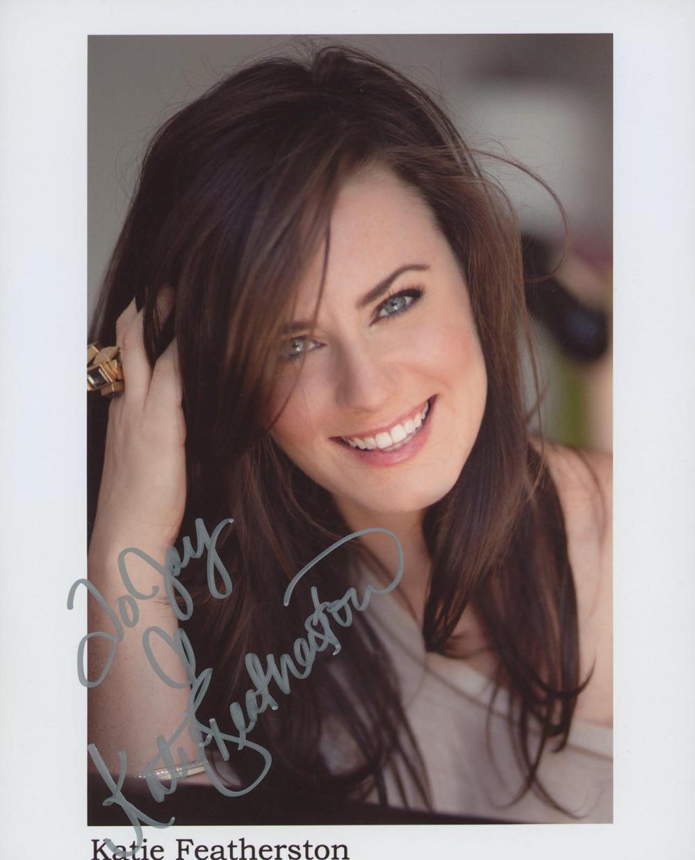 Katie Featherston signed photo