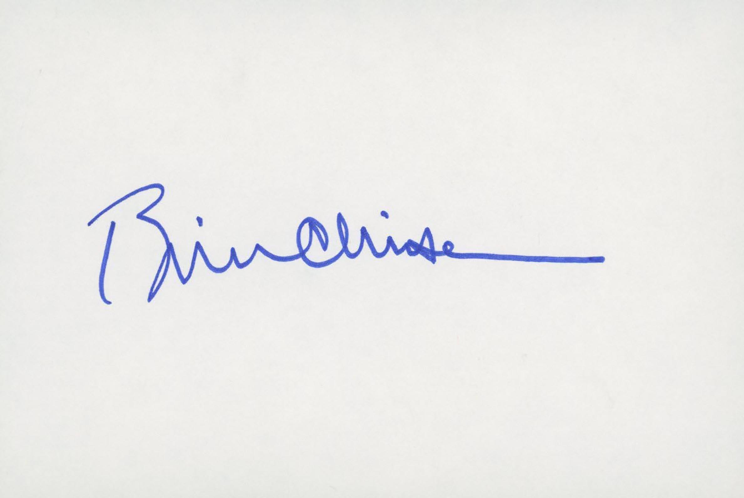 Bill Clinton signature cut