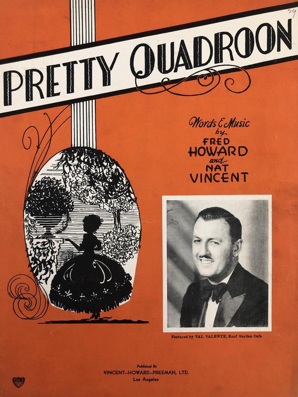 Pretty Quadroon music sheet
