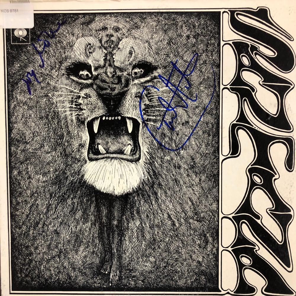 Santana signed album