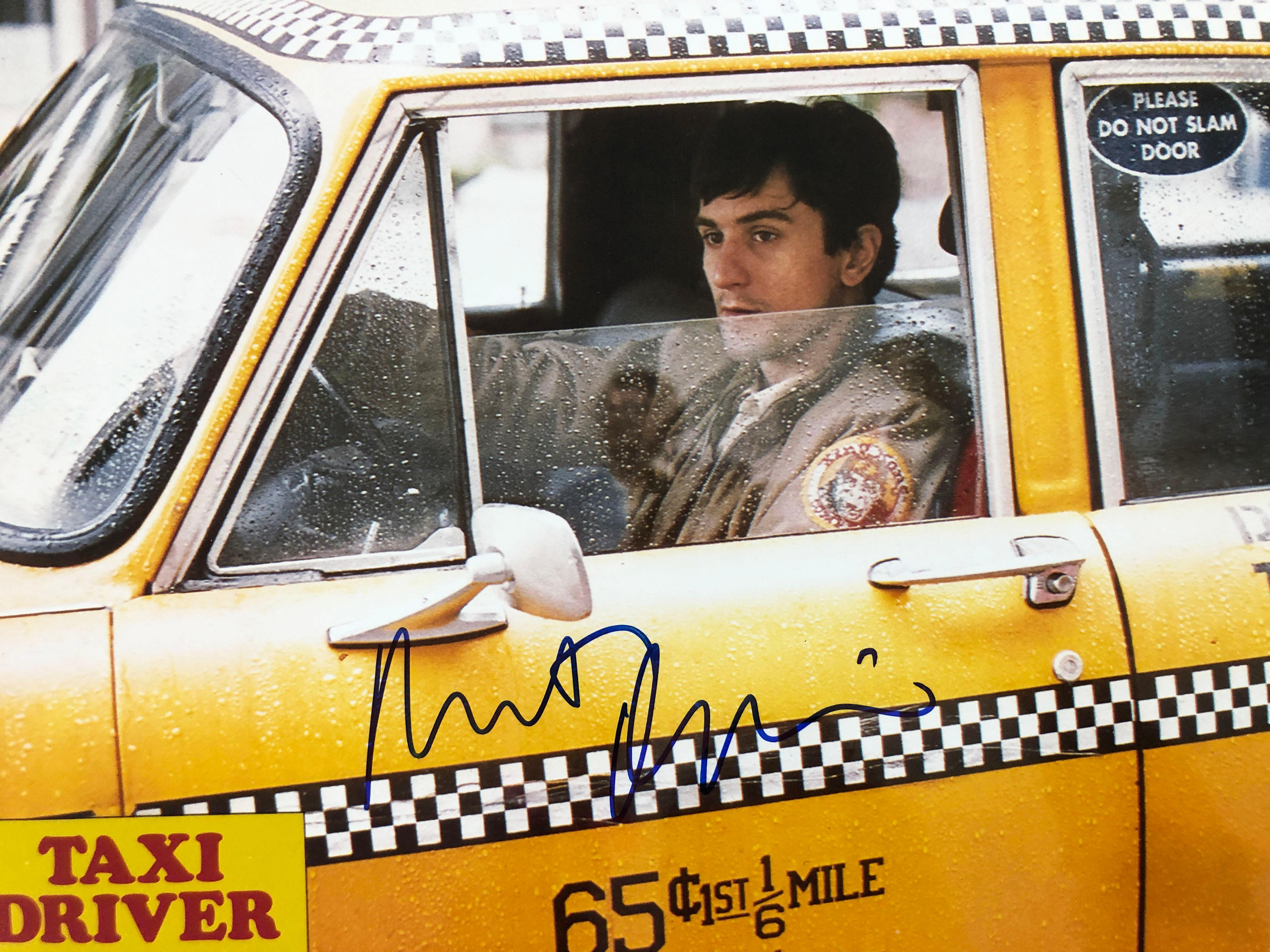 Taxi Driver signed lobby card