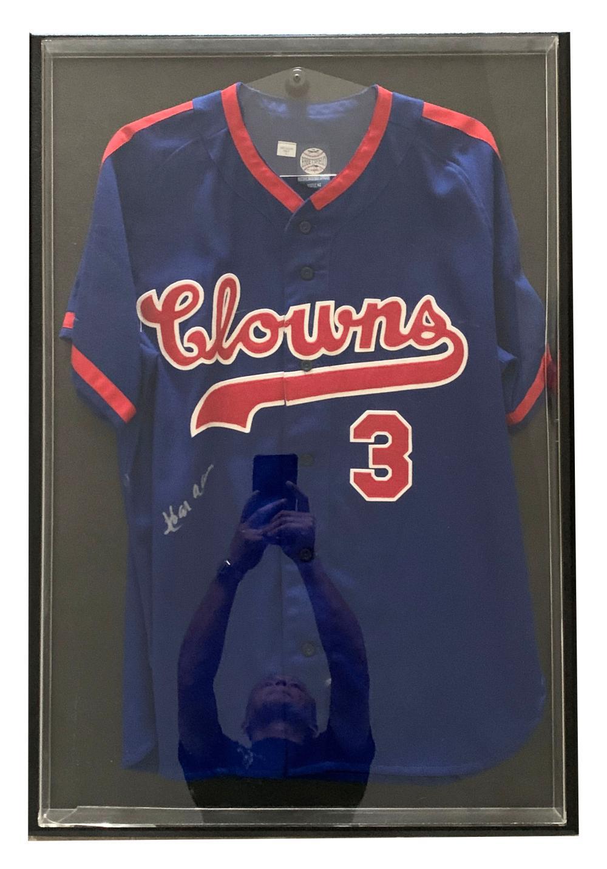 Indianapolis Clowns Hank Aaron Signed Baseball Jersey