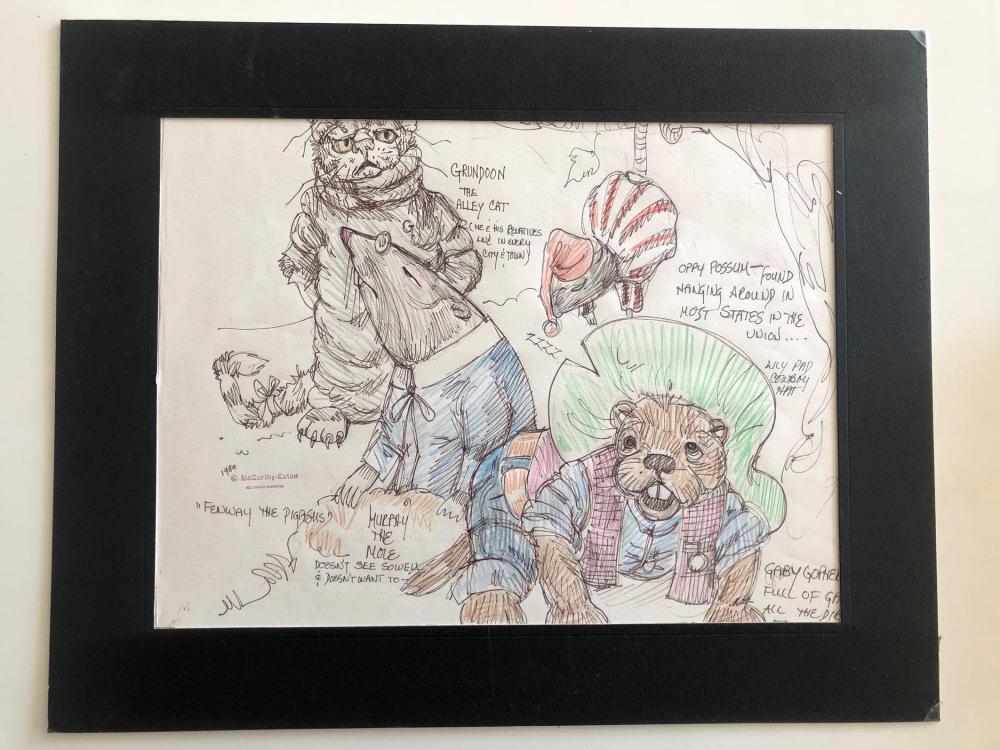 Fenway the Pigasus Original Art - McCarthy-Eaton